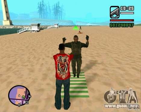 Acción de COD Modern Warfare 2 para GTA San Andreas segunda pantalla