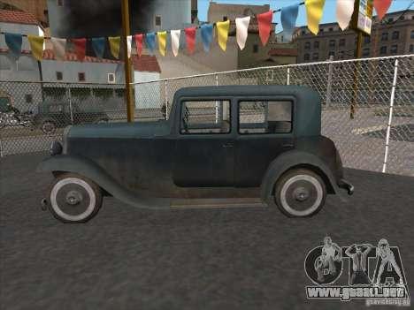 El vehículo de la segunda guerra mundial para GTA San Andreas left