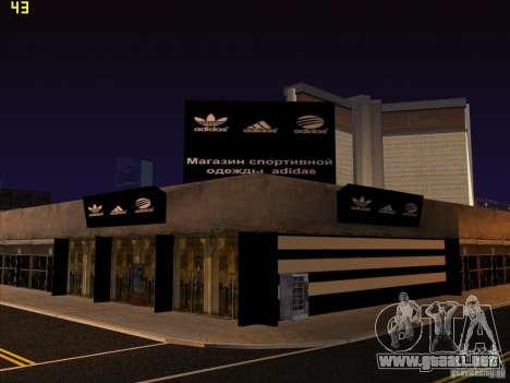 Reemplazo total de la tienda Binco Adidas para GTA San Andreas décimo de pantalla