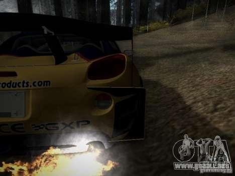 Pontiac Solstice Redbull Drift v2 para visión interna GTA San Andreas