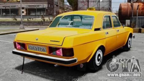 Taxi Gaz-3102 para GTA 4 Vista posterior izquierda