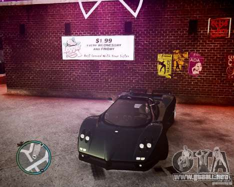 Pagani Zonda C12S Roadster para GTA 4
