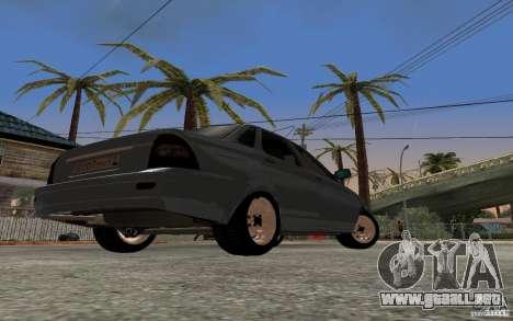 LADA priora luz tuning para GTA San Andreas vista hacia atrás