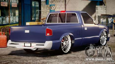Chevrolet S10 1996 Draggin [Beta] para GTA 4 vista lateral