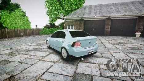 Volkswagen Voyage Comfortline para GTA 4 Vista posterior izquierda