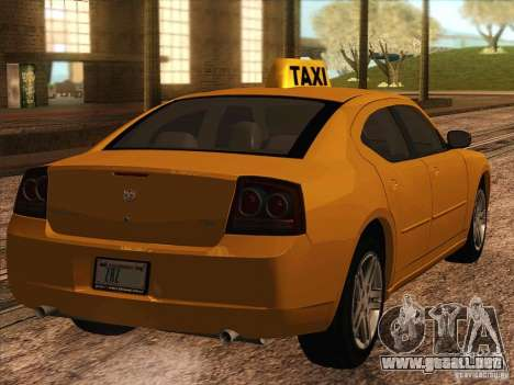 Dodge Charger STR8 Taxi para GTA San Andreas vista posterior izquierda