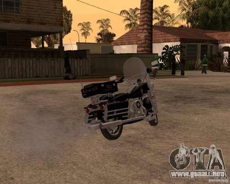 Harley Davidson Police 1997 para GTA San Andreas vista posterior izquierda