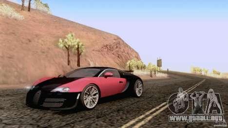 Bugatti ExtremeVeyron para GTA San Andreas vista posterior izquierda
