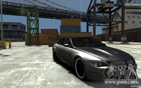BMW M6 Tuning para GTA 4 vista hacia atrás