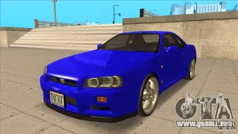 Nissan Skyline R34 FNF4 para GTA San Andreas