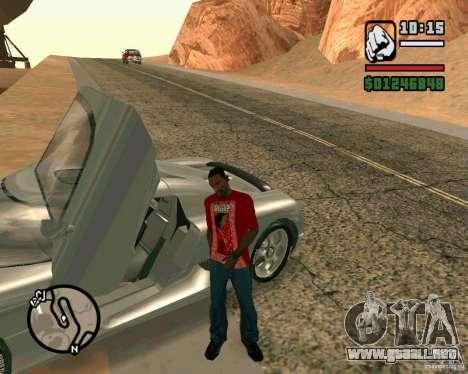 Koenigsegg CC8S para GTA San Andreas left