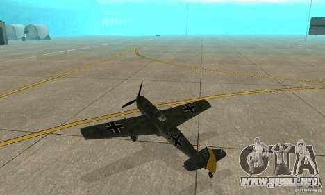 Bf-109 para la visión correcta GTA San Andreas