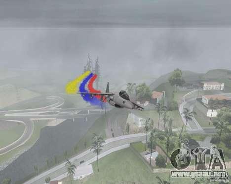 Multi color tiras para aeronaves para GTA San Andreas segunda pantalla