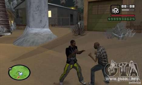 Monster energy suit pack para GTA San Andreas sexta pantalla