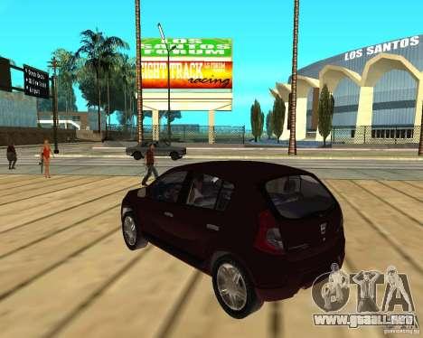 Dacia Sandero 1.6 MPI para GTA San Andreas left