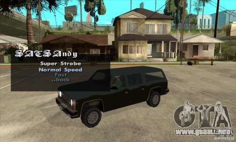ELM v9 for GTA SA (Emergency Light Mod) para GTA San Andreas tercera pantalla