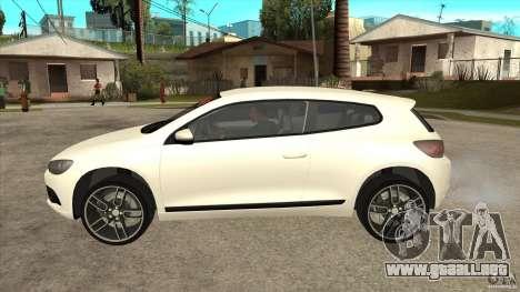 Volkswagen Scirocco 2009 para GTA San Andreas left