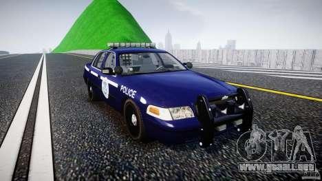 Ford Crown Victoria Homeland Security [ELS] para GTA 4 vista hacia atrás