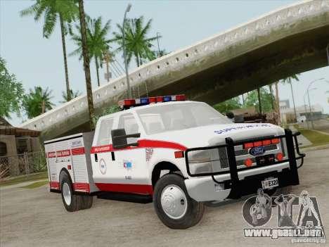 Ford F-350 AMR Supervisor para GTA San Andreas left