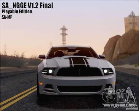 SA_NGGE ENBSeries v1.2 versión jugable para GTA San Andreas