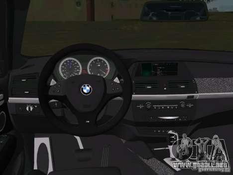 BMW X6M para GTA Vice City vista superior