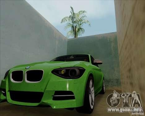 BMW M135i V1.0 2013 para GTA San Andreas vista hacia atrás