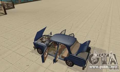 Moskvich 412 con afinación para GTA San Andreas vista hacia atrás