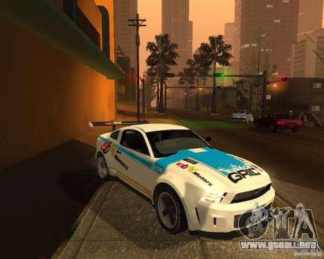 Ford Mustang GT-R 2010 para GTA San Andreas vista hacia atrás