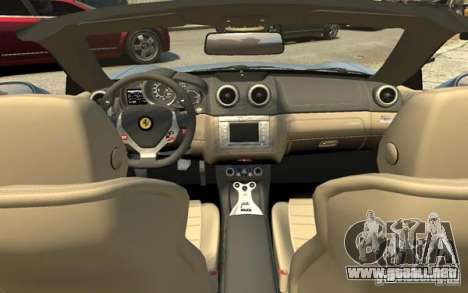 Ferrari California para GTA 4 vista superior