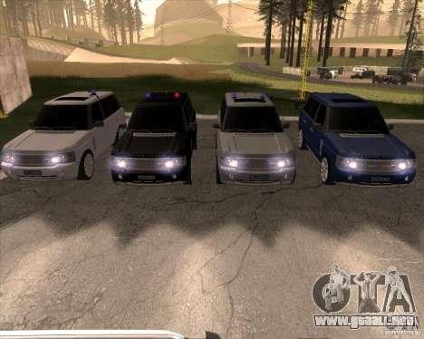 Land Rover Range Rover Supercharged para la visión correcta GTA San Andreas