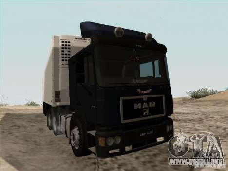MAN F2000 6x4 para GTA San Andreas left