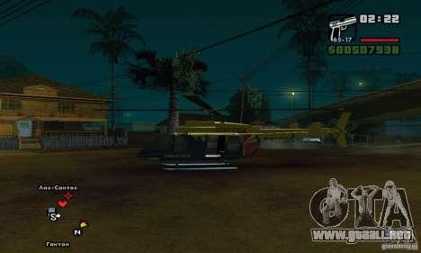 Helitours Maverick de GTA 4 para GTA San Andreas vista posterior izquierda