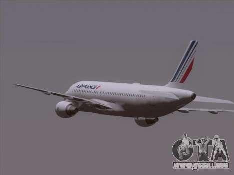 Airbus A320-211 Air France para la vista superior GTA San Andreas