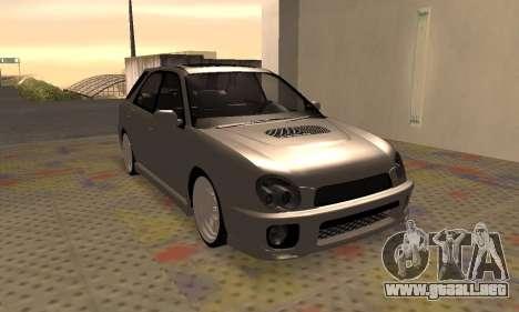 Subaru Impreza WRX Wagon para GTA San Andreas left