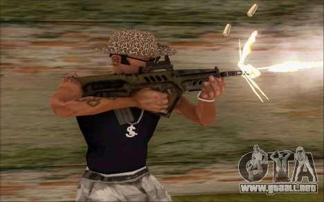 Tavor ctar-21 de WarFace v2 para GTA San Andreas segunda pantalla
