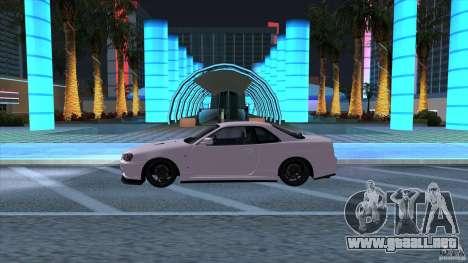 Nissan Skyline GTR-34 M-spec Nur para GTA San Andreas left