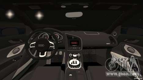Audi R8 5.2 Stock Final para GTA 4 vista hacia atrás