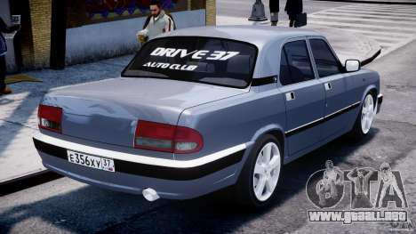 GAZ-3110 Turbo WRX STI v1.0 para GTA 4 Vista posterior izquierda