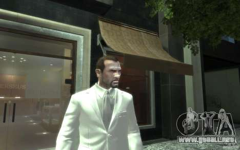 Gran traje gris y blanco para GTA 4 tercera pantalla