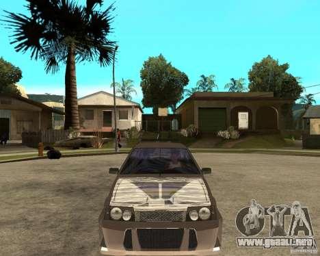 LiquiMoly Vaz 21093 para GTA San Andreas vista hacia atrás