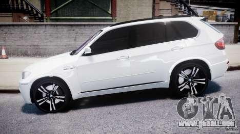 BMW X5M Chrome para GTA 4 left