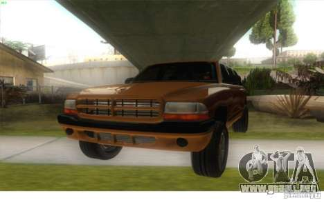 Dodge Durango 1998 para GTA San Andreas vista posterior izquierda