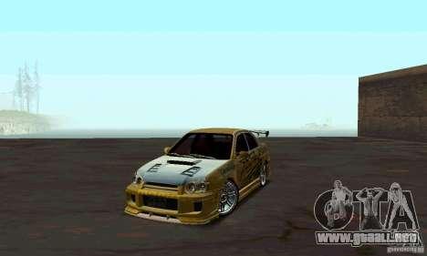 NFS Most Wanted - Paradise para GTA San Andreas segunda pantalla