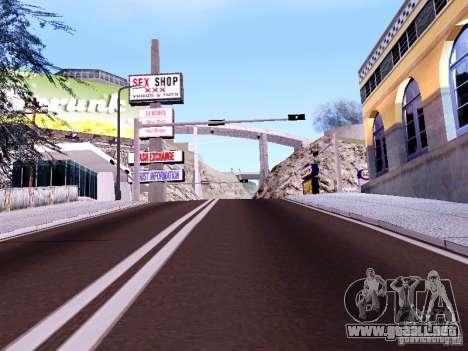 New Roads para GTA San Andreas quinta pantalla