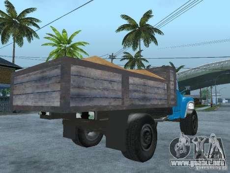 Camión ZIL 130 para GTA San Andreas vista posterior izquierda