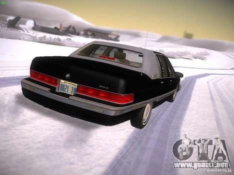 Buick Roadmaster 1996 para GTA San Andreas vista posterior izquierda