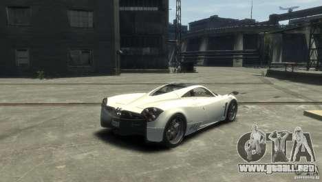 Pagani Huayra para GTA 4 left