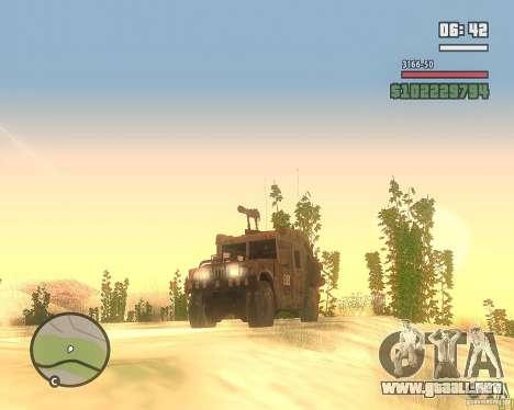 Hummer H1 de COD MW 2 para GTA San Andreas vista hacia atrás