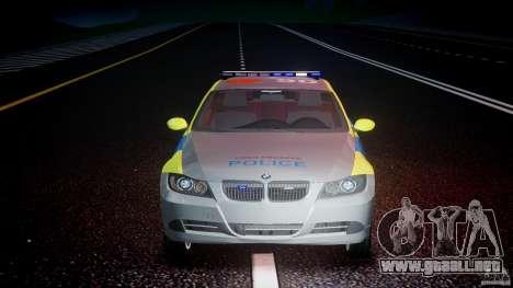 BMW 350i Indonesian Police Car [ELS] para GTA 4 vista desde abajo