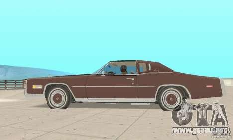 Cadillac Eldorado Biarritz 1978 para GTA San Andreas vista posterior izquierda